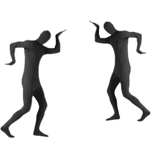 Kind Ninja Kostüm Deluxe Black - RENJIANFENG Demon Skin Anzug Kostüm Invisibility Shirt Ninja Strumpfhose Stage Invisible Man Performance Kostüme Halloween Performance Kostüm Invisible,Schwarz,XL