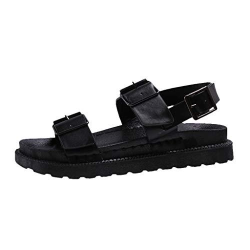 CUTUDE Sommer Damen Laufschuhe Wilden Atmungsaktiven Mesh Schuhe Arbeiten Rutschfesten Leichten Arbeitsschuhen Freizeitschuhe (Schwarz, 45 EU)