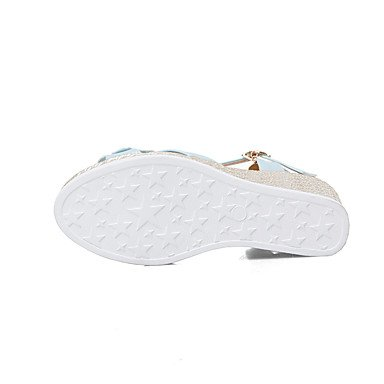 LvYuan Da donna Sandali Comoda Cinturino alla caviglia Suole leggere Pelle Estate Casual Formale Comoda Cinturino alla caviglia Suole leggere White