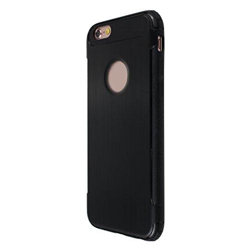 Lot de 2 Housse iPhone 6S Protection Case, Coque iPhone 6 Arrière Etui, Moon mood® Coque iPhone 6S Silicone, Doux TPU Couverture de Protection pour Apple iPhone 6 4,7 pouces Soft Case Cover Bumper She 2-Noir