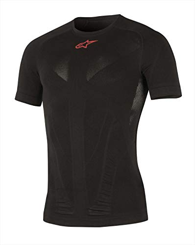 Alpinestars Tech Top Short Sleeve Sommer Apparel, Herren, schwarz/rot -