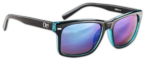 Dice Unisex Sonnenbrille, shiny black/transparent blue, one size, D06210-2