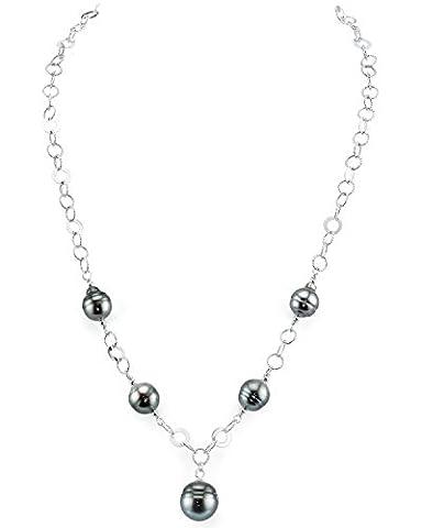 8 mm, Barocke Form mit Einer Tahiti SüDsee-Perle, Länge der Halskette Perle (Südseeperlen & Diamant-armband)