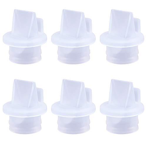 CNNIK Accessori per tiralatte, Valvole a becco d\'anatra per spettri e Medela, Valvole a becco d\'anatra sostituibili siliconica per valvole S1, S2 e Medela, senza BPA/DEHP (6 pezzi)