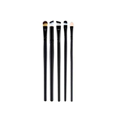 Saingace 5 Pcs Brosse Synthétique Maquillage de Brus Doux Cosmétiques de Haute Qualité Noir