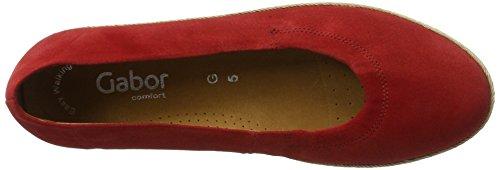 Gabor Damen Comfort Geschlossene Ballerinas Rot (red (Jute) 48)