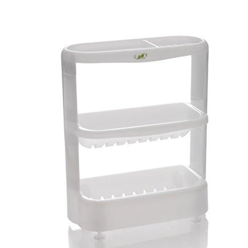 CKH Badezimmer-Waschbecken-Zahnstangen Badezimmer-Eitelkeits-Tabellen-Endregal-Kosmetik-Lagerregal ( Color : White ) (Holz-badezimmer-waschbecken Eitelkeit)
