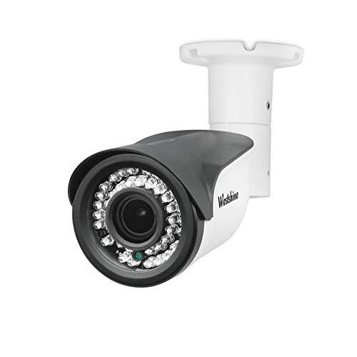 Wideshine 4MP Cámara Bullet de Seguridad 4 en 1 Sensor de 1/3'Lente Varifocal de 2.8-12mm 42 LED IR Corte de Visión Nocturna de 130ft Cámaras de Vigilancia de Interior con Menú OSD (Varifocal 4MP)