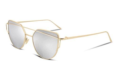 FEISEDY Cateye Damen Moderne Modische Metal Frame Sunglasses women UV400