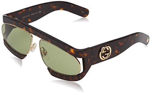 7a3eca6c14 Gucci GG0233S 002, Gafas de sol para Mujer, Marrón (2/Green)
