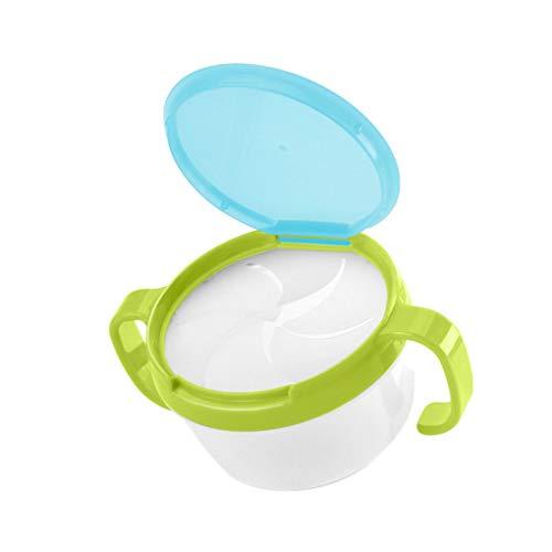 Windy5 Baby-Kind-Kleinkind-Snack Catcher mit doppeltem Griff Snack Cup Jar Schüssel spritzwassergeschützte Biscuits Container Box