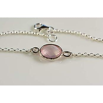 Rosenquarz an 925er Silberarmband – zeitlos schön – das perfekte Geschenk