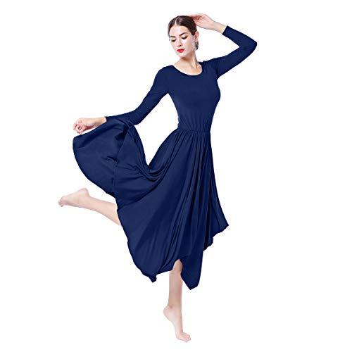 4558b9ce63 IBTOM CASTLE Danza Vestido de Ballet Flamenco Maillot Adulto con Falda  Larga para Mujer Niñas Chica