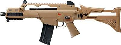 g8ds G36 C - Rifle Heckler & Koch airsoft (eléctrico, 0,5 julios, AEG, calibre de 6 mm, incluye pegatina)