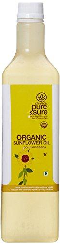 Pure & Sure Organic Sun Flower Oil, 1L