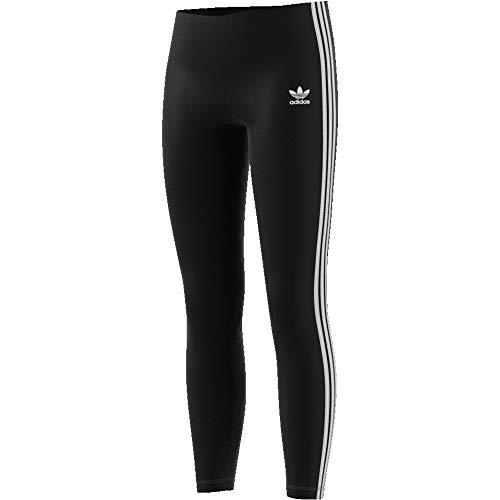 adidas Mädchen 3-Streifen Trainingshose, Black/White, 164 (Leggings Jersey Mädchen)