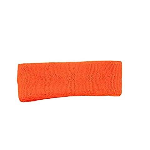 Terry Cloth 3 Ply Ultimate Headband Various Colors Sweatband (Neon Orange)