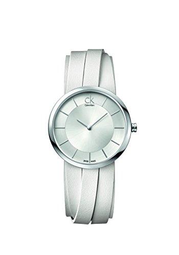 Calvin Klein Reloj Analógico para Mujer de Cuarzo con Correa en Cuero K2R2S1K6