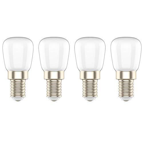 LED Kühlschranklampe E14 LED Lampe,3W Ersatz für 20W Halogenlampen,Warmweiß 3000K,LED Kühlschrankbirne,LED Leuchtmittel AC 220V 240V, 4er-Pack