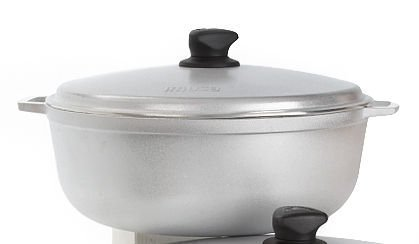 IMUSA Cast Aluminum Caldero Dutch Oven 12 inches / 30cm, 6.9Qt, #9 Grey NSF Certified - GAU-80506 by Imusa USA Imusa Cast