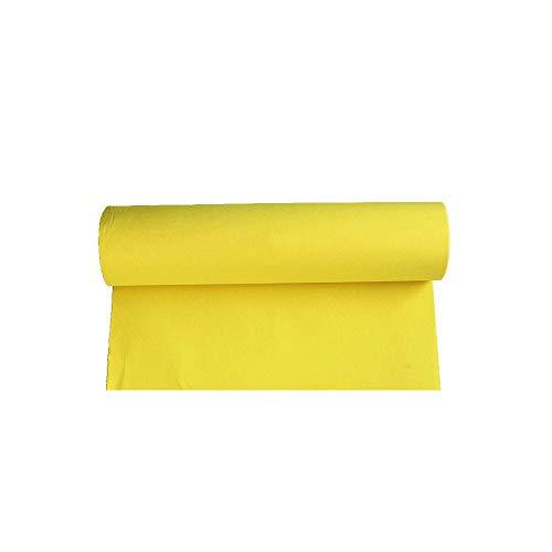 LIYUZHEN Hochzeitsteppich, Farbe Teppich Rolle Einweg Rutschfeste Vlies Verschleißfeste Bühne Hochzeit Requisiten, Dicke 1 Mm, Größe: 1.5m * 25m (Farbe : Gelb)