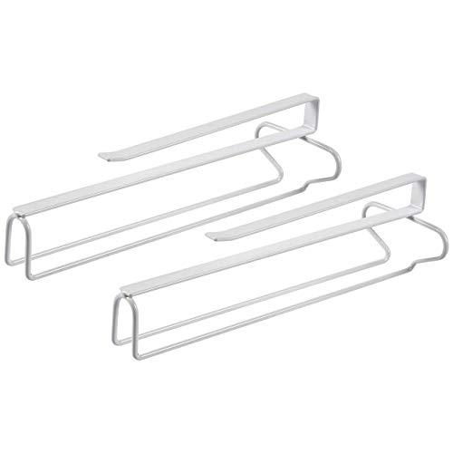 Organiza el espacio de tu armario con estos 2 soportes de metal que se ajustan hasta 8 vasos en total. Guardarlos dentro o debajo de un armario, sabiendo que su delicado vástago será seguro y fuera de su camino.