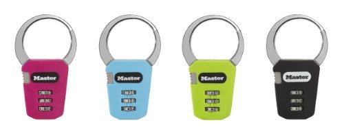 Master Lock 1550EURDCOL Candado para Mochila con Combinación Programable, Multicolor, 84mm