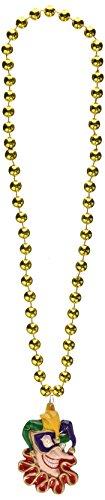 Forum Novelties 63968 M/G Beads with Jester Medallion