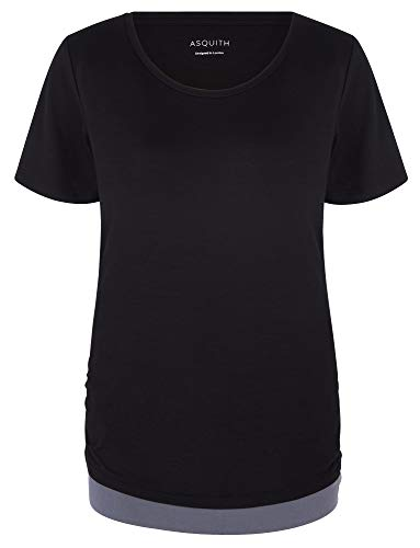 Asquith Yoga-T-Shirt Bend It – Black/Deep Grey