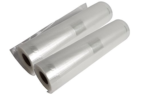 Andrew James Food Vacuum Seal Rolls – Compatible with Most Food Vacuum Sealer Machines – High Quality Plastic Rolls for Cut to Length Bags – Reusable Microwave Fridge Freezer & Dishwasher Safe – 28cm x 40m (8 x 5m rolls)