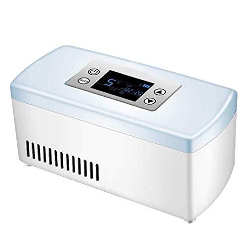 ZDY Tragbare Insulin-Kühlbox mit hohem Volumen, wiederaufladbare LCD-Anzeige 2-8 ℃ Autokühlschrank, Drogenkühlschrank-Minikühlschrank für Haus, Auto, Reise, Camping.