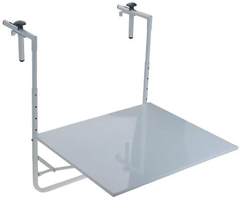Table Hauteur Ajustable - Table de balcon suspendue et rabattable ,