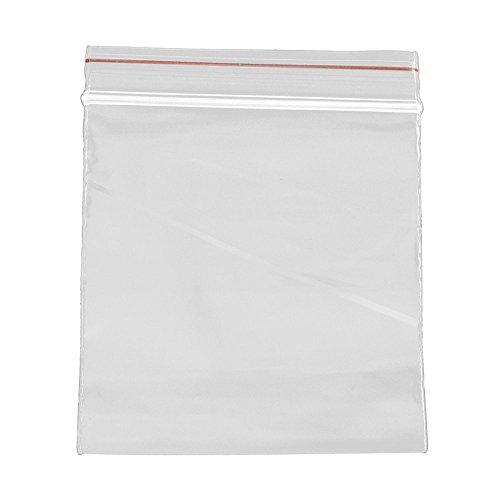 Pandahall - Lot de 500Pcs Sachets Plastiques Zip a Fermeture Transparent 6x4cm Epasseur: 0.05mm