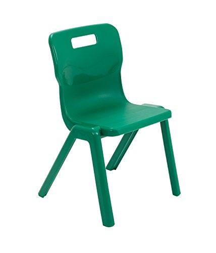 Titan 4 Leg Classroom Chair-Size 2 43.8 x 39.8 x 67 cm Ages 3-5 Years Sky Blue