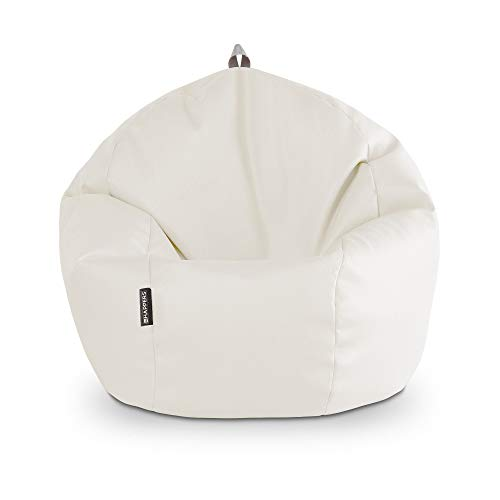 HAPPERS Puff Pelota Polipiel Outdoor Blanco
