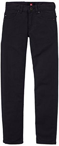 Quiksilver - Pantaloni da ragazzo, tinta unita, nero (Nero), 14 anni