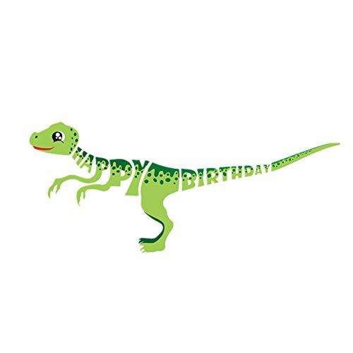 nner Girlande Happy Birthday Party Deko Banner Geburtstag Dinosaurier Karikatur Baby Junge Mädchen Geburtstag Party deko Happy Birthday Flagge 1 Set Grün Dinosaurier. ()