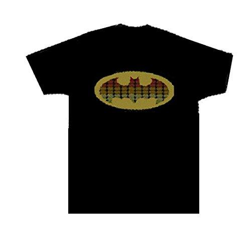 Batman Sound Reactive Equalizer EL Flashing T-Shirt Gr. M, Schwarz (Männer Für Transformator-shirts)