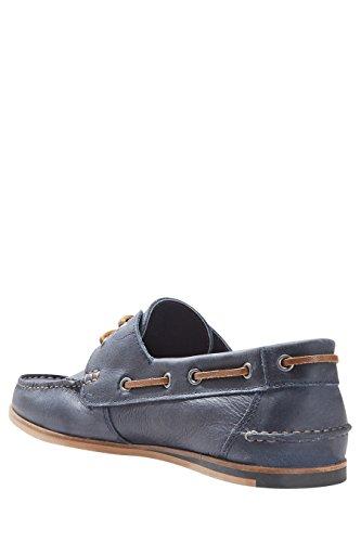 next Hommes Chaussures Bateau Élégantes en Cuir Bleu