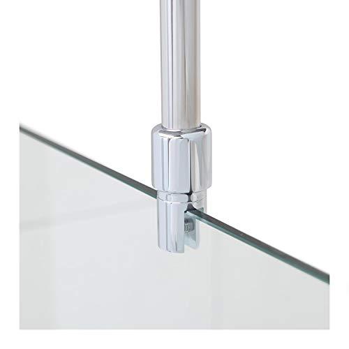 Stabilisationsstange für Duschen, Haltestange Glas - Decke, Stabilisierungsstange Duschwand, Stabilisator Chrom