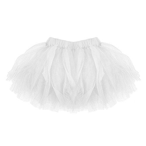 Qiao Nai (TM) Kinder Baby Mädchen Mutter Erwachsene Tutu Röcke Mini Ballett Prinzessin Hochzeit Party (Mama, (Für Tutus Erwachsene Weiße)