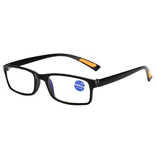 Plzlm Männer Frauen Multi Kraft Lesebrillen quadratischen Rahmen Ultra Presbyopie Dioptrienbrill