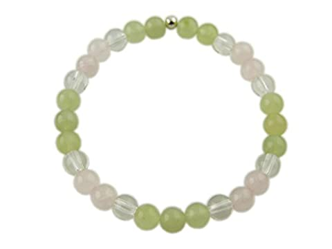Chakra Armband - 4. Chakra - Herzchakra - mit 925er Silber Perle, Edelsteinarmband, Stretcharmband
