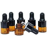 Preisvergleich für 30pcs Travel Tragbare Mini Bernstein Glas ätherisches Öl Dropper Flaschen nachfüllbar leer Eye Dropper Parfüm...