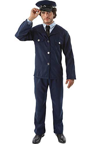 Mens The Full Monty Stripper Velcro Rip Off Fancy Dress Costume Standard