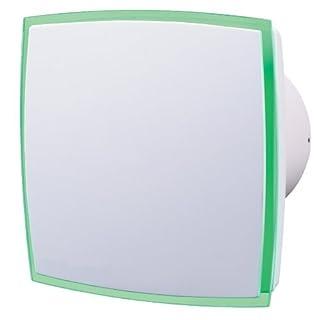 Aeropush Design-Abluftventilator mit LED-Leuchtstreifen Grün