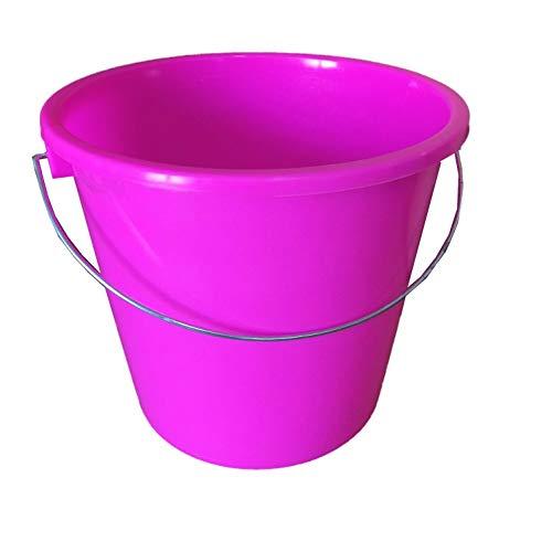 netproshop GEWA Eimer Klein mit Skala 5 Liter Lebensmittelecht, Farbe:Pink