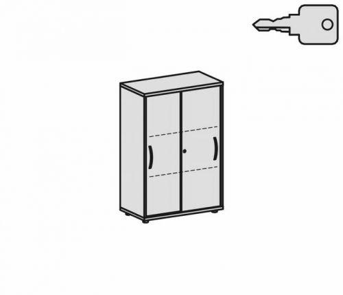 Gera Möbel Schranksystem Flex Schiebetürenschrank, Holzdekor, Buche/Buche, 80 x 42.5 x 118.2 cm