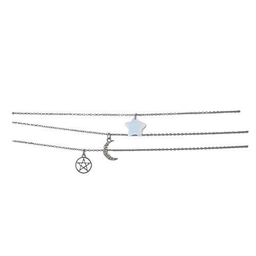 Lux Accessories LUX Zubeh?r H?matit Celestial Opal Star Zarte Collier Set 3 -