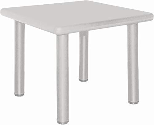 Bieco 04201822 Kindertisch eisgrau, Tisch für Kinder von 1 bis 8 Jahren als Gartentisch, Maltisch, Basteltisch, Kinderzimmertisch und Schreibtisch, grau